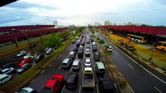 Traffic on the Famous Radial Leste Avenue in Sao Paulo, Brazil Stock Footage