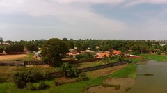 Aerial city Bissau neighbourhood Copulon Guinea Bisseau Stock Footage