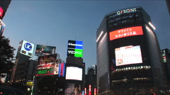 Shibuya, Tokyo, Japan. Buildings and neon signs. Fashion, Youth, Commerce - stock footage