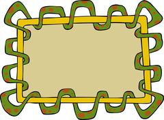 Snake frame Stock Illustration