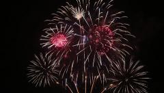 Beautiful Fireworks - stock footage