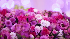 Flower decoration on bokeh Stock Footage