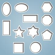 Set of 11 cut out shapes Stock Illustration