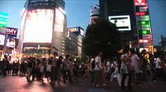 Time lapse. Shibuya, Tokyo Night Scene. Fashion center of Japan. Nightlife area Stock Footage