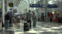 Chicago O'Hare International Airport passengers 4K 019 Stock Footage