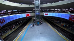 The Famous Station Sé in São Paulo, Brazil Stock Footage