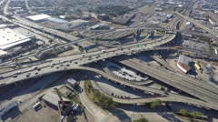 Downtown new orleans highway interchange aerial 4k Stock Footage