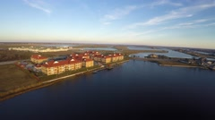 Slidell louisiana 6 aerial homes 4k Stock Footage