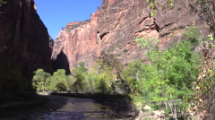 The Narrows Zion National Park Stock Footage