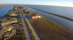 Slidell louisiana aerial homes 4k Stock Footage