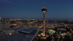 Downtown san antonio and tower of americas 3 Stock Footage