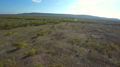 Texas desert and wind farm 4k Stock Footage