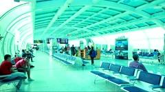 Passagers at Santos Dumont Airport in Rio de Janeiro, Brazil. Stock Footage