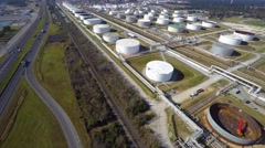 Aerial phillips 66 refinery 10 aerial 4k Stock Footage
