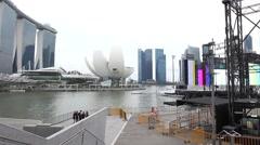 Panorama of Singapore Stock Footage