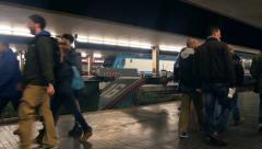 Florence, Italy, Santa Maria Novella Railway Station, Passengers and Train. - stock footage