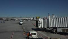 Salt Lake City Utah International airport aircraft arrive fast 4K 015 Stock Footage
