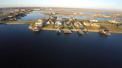 Slidell louisiana aerial homes 4k 2 Stock Footage