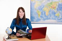 Stock Photo of travel agency manager