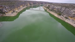 Pecos river 6 aerial 4k Stock Footage