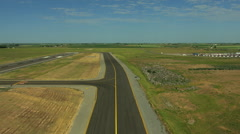 Aerial Idaho USA airport aviation runway flying airplane Stock Footage