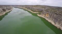 Pecos river 4 aerial 4k Stock Footage