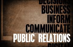 public relations - stock illustration