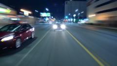 4K Driving Hyperlapse Back 08 Los Angeles Cityscape Stock Footage