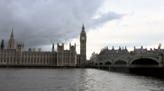 London - Big Ben strikes the hour Stock Footage