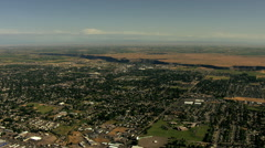 Aerial Idaho USA Twin Falls town community Magic valley - stock footage
