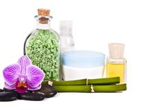 cosmetics and toiletries and beauty - stock photo