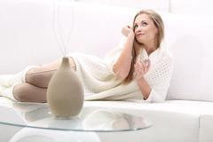 Young blonde woman Stock Photos