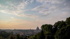 Vatican sunrise timelapse Stock Footage