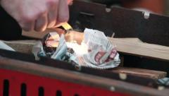 flint making fire - stock footage