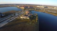 Slidell louisiana aerial homes 4k 4 Stock Footage