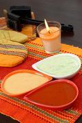 Barbecue sauces Stock Photos