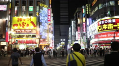 4k kabukicho nightlife tokyo red light district japan city Stock Footage