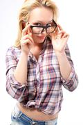 Glasses ­ a stylish addition  Stock Photos
