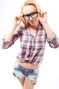 Fashionable spectacle frames  Stock Photos