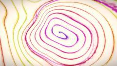 Hypnotic lollipop distorted - stock footage