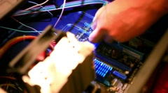 Close up of Motherboard diagnostic. HD. 1920x1080 - stock footage