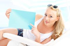 Holiday on the beach - space for your text  Stock Photos