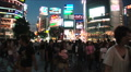 Shibuya, Tokyo Night Scene. Fashion center of Japan. Nightlife area. Consumerism Footage