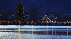 Christmas in rottach-egern at lake tegernsee, bavaria, germany Stock Footage