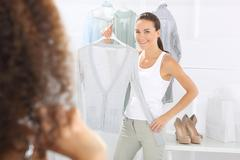 Stock Photo of Hunting for bargains, women shopping