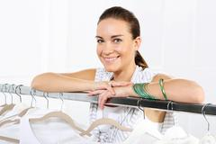 Stock Photo of Sale, woman shopping