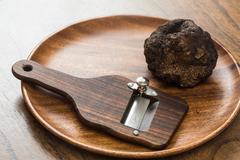 delicacy mushroom black truffle - stock photo
