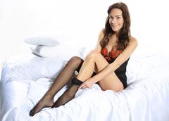 Application sexy black stockings - stock photo