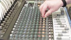 Sound Engineer at Mixing Desk Stock Footage