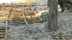 Pouring Concrete - Stock Video Stock Footage